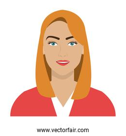 avatar business woman, vector graphic