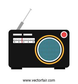 colorful old stereo, vector graphic