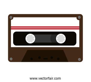 colorful old cassette, vector graphic