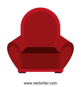 big red seat, vector graphic