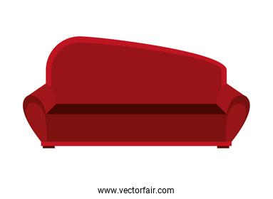 big red couch, vector graphic
