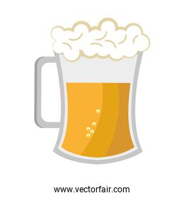 full beer cup, vector graphic