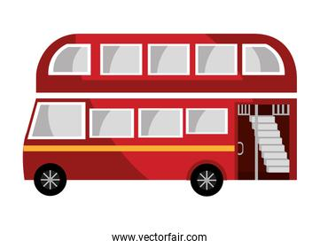 red british bus, vector graphic