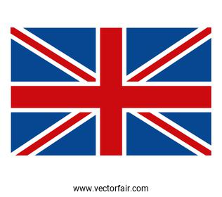 colorful british flag, vector graphic