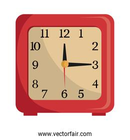 colorful table clock over white vector graphic
