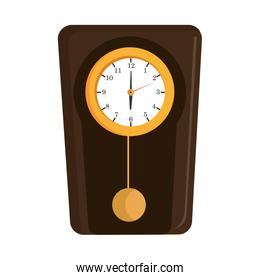 colorful old clock, vector graphic