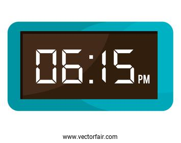 colorful electronic watch, vector graphic