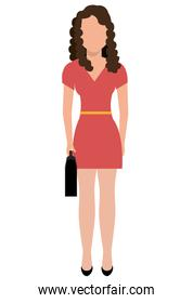 business woman, vector graphic