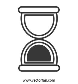 Hourglass or sand clock line icon