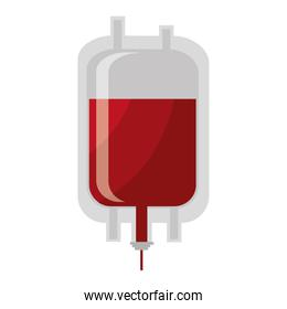 Blood donation theme design, isolated icon.