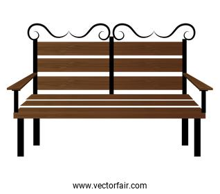 Bench or wooden chair icon design.