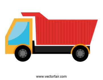 colorful cargo truck, vector graphic