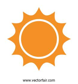 yellow abstract sun, vector graphic
