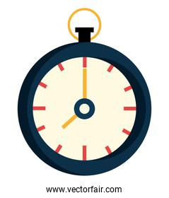 black and white clock, vector graphic