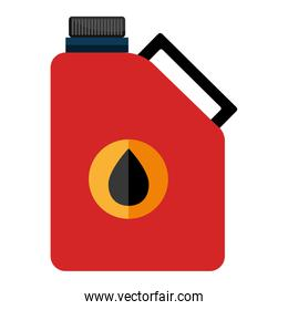 colorful oil container, vector graphic
