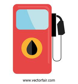 colorful gas station, vector graphic