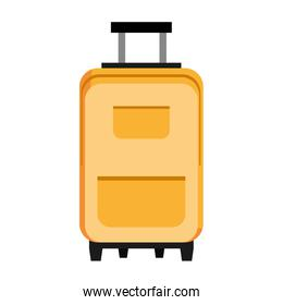 colorful travel bag, vector graphic