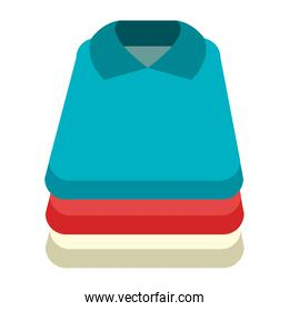 colorful shirt set, vector graphic