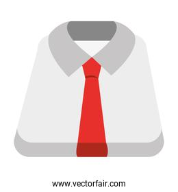 white shirt and red tie, vector graphic