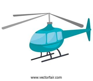 Helicopter icon isolated on white background.