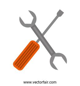 Wrench and screwdriver construction tools