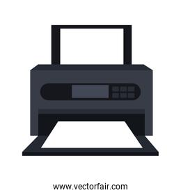 Printer technology device isolated icon.