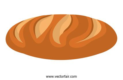Fresh bread isolated colorful icon