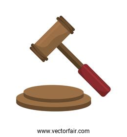 Justice gavel isolated icons over white