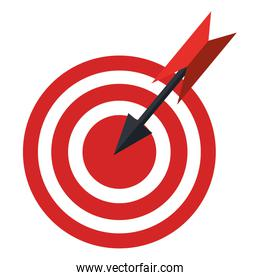 Red and white target with arrow