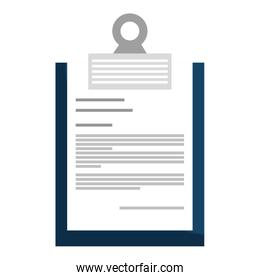 Document or  simply sheet isolate flat icon.