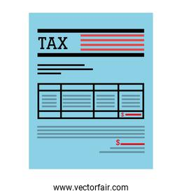 Tax receipt of payment icon.