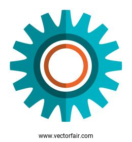 Gears, cog or wheel isolated icon.