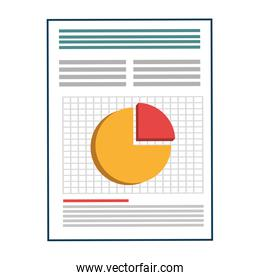 Business document sheet isolated icon.