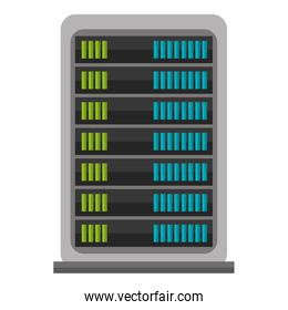 Hosting and cloud computing icon