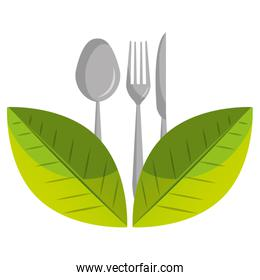Healthy food isolated flat icon.