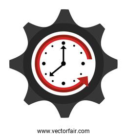 Time and clock isolated flat icon.