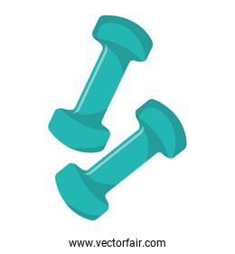 Gym and fitness lifestyle isolated icon.