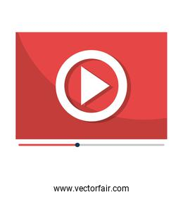 Play video and movie  isolated icon design.