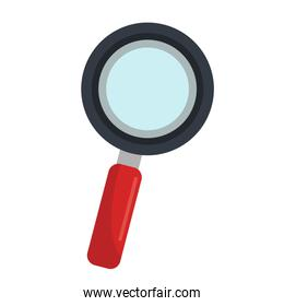 Magnifying glass isolated flat icon