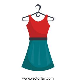 Fashion woman dress isolated icon.