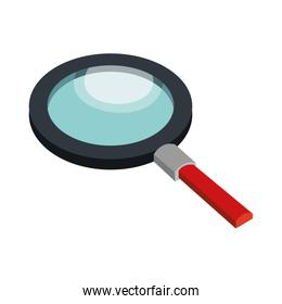 Magnifying glass isolated icon design.