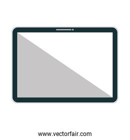 Personal computer isolated flat icon.