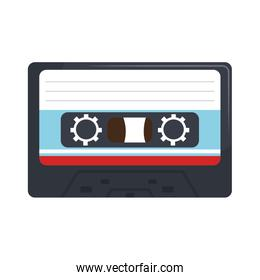 Stereo cassette isolated flat icon.