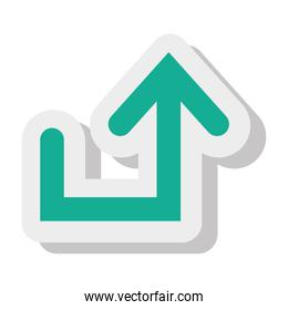 Arrow isolated flat icon, vector illustration.