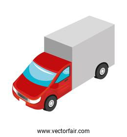 Vehicle transport isolated 3d icon.