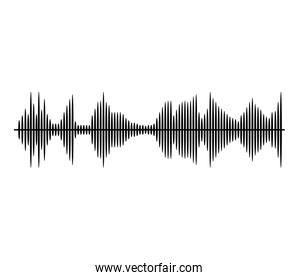 Sound waves isolated icon design.