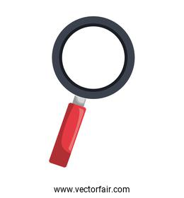 Magnifying glass isolated flat icon.