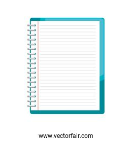 Notebook isolated flat icon, vector illustration.