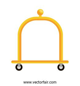 Hotel object isolated flat icon, vector illustration.