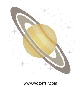 Planet of milky way galaxy isolated icon.